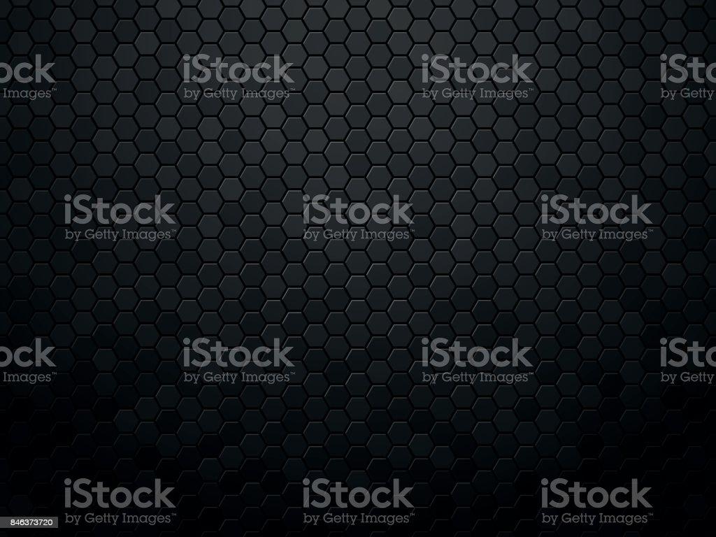 Hexágono de fundo abstrato textura preto - ilustração de arte em vetor