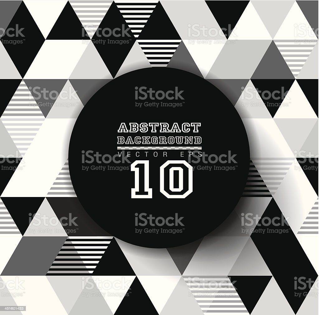 Abstract black-and-white geometric background vector art illustration
