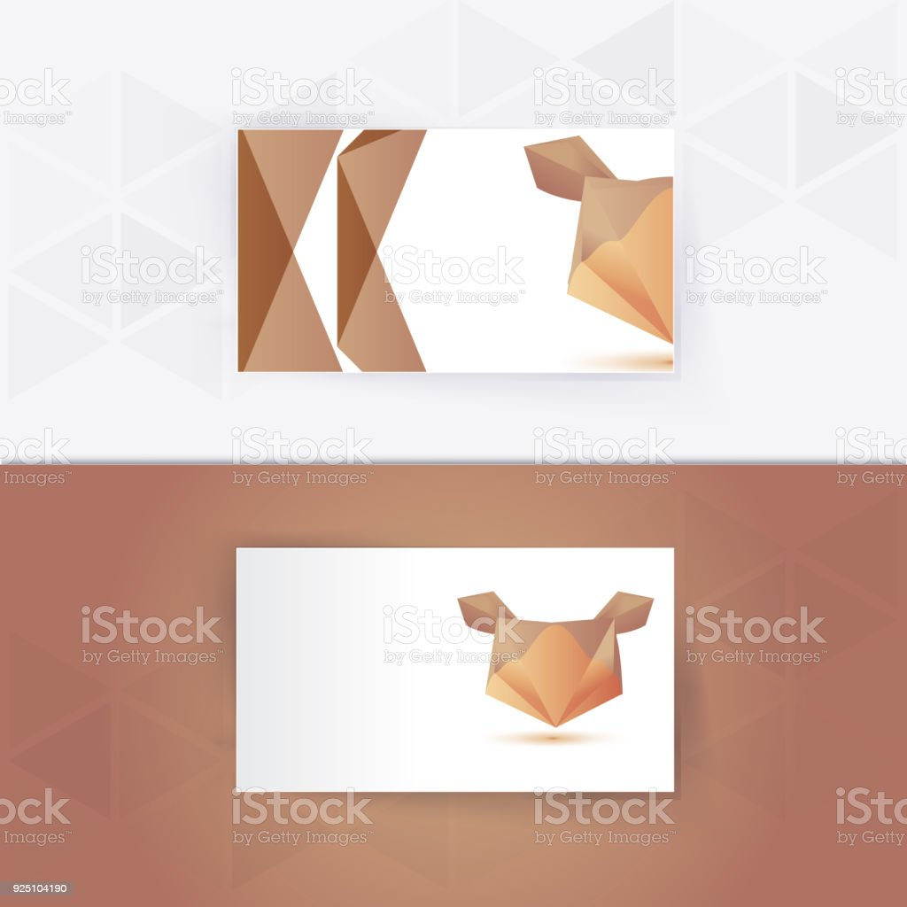 Abstract Blank Name Card Template For Business Artwork Stock