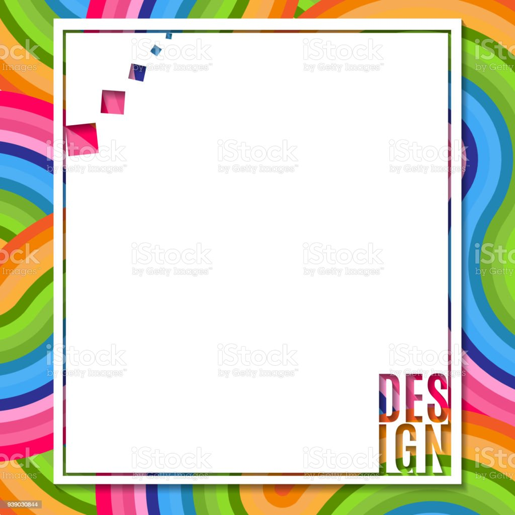 Abstract Blank Rectangular Banner With Text Design Element On Bright