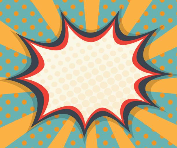 abstract blank speech bubble comic book, pop art vector art illustration