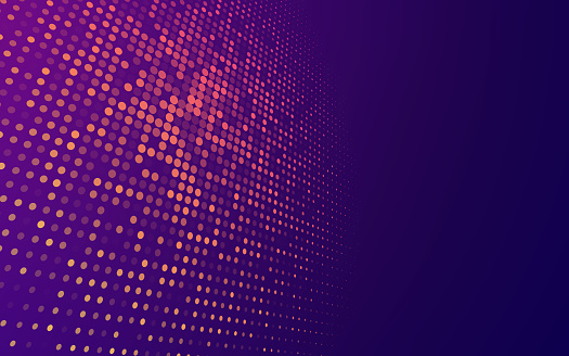 Abstract blend futuristic tech dots perspective design background.