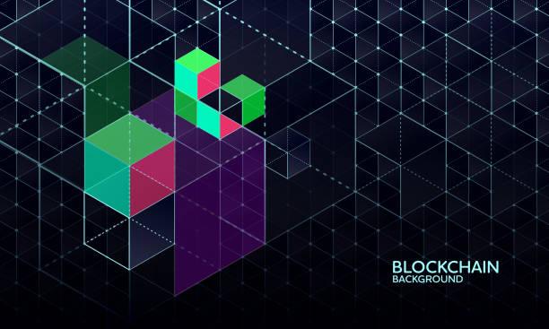 Hintergrund der Blockchain-Netzwerk – Vektorgrafik