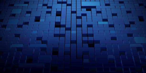 Abstract Blockchain Network Background vector art illustration