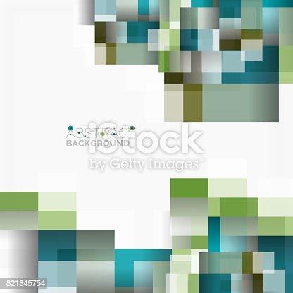 Abstrakt Blockiert Vorlage Designhintergrund Einfache Geometrische ...