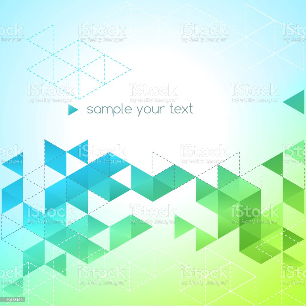 Abstract blue and green background template royalty-free stock vector art
