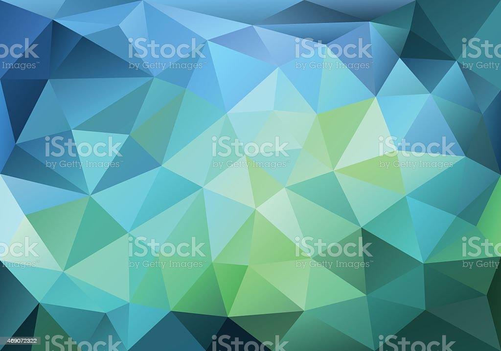 Abstrato azul e verde de fundo, vetor baixa poly - Vetor de 2015 royalty-free