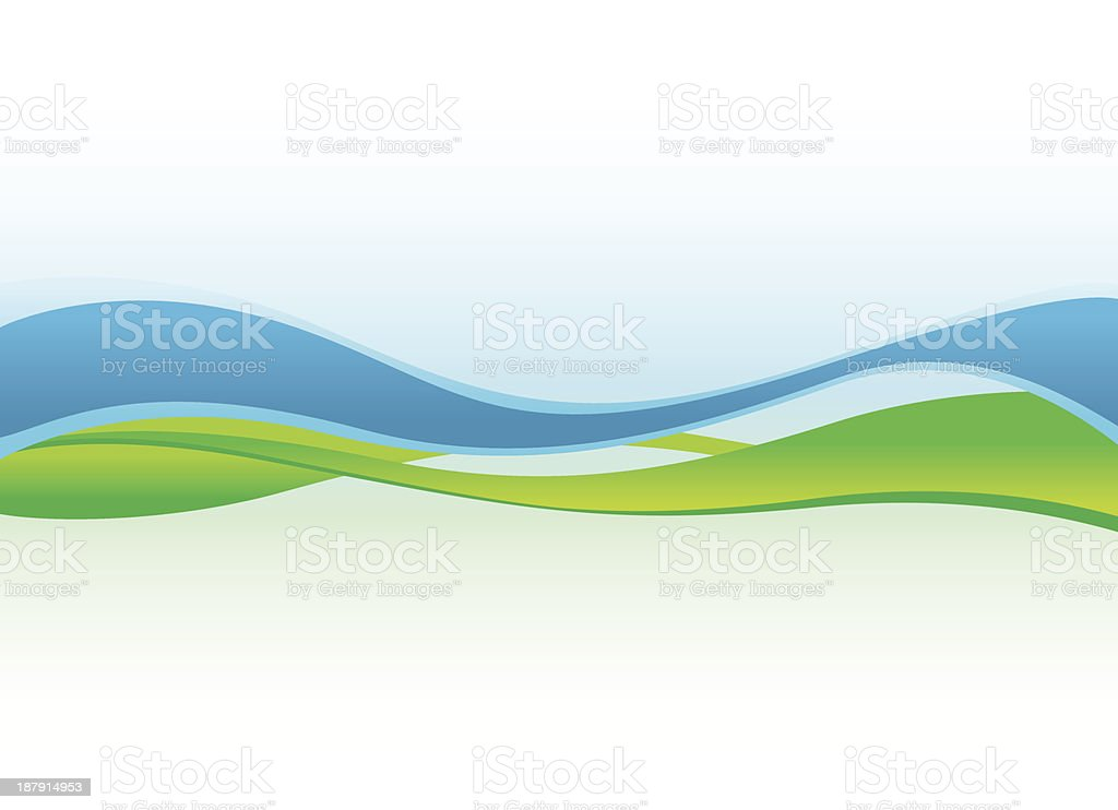abstract blue and green waves background royalty-free stock vector art