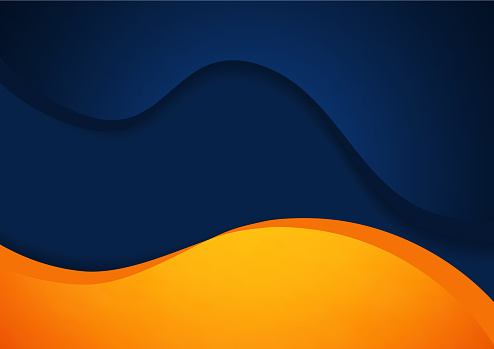 Abstract blue and orange vector background