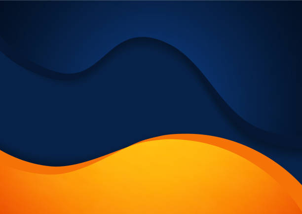 abstract blue and orange vector background - orange color stock illustrations