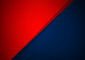 Abstract blue and red overlap vector background