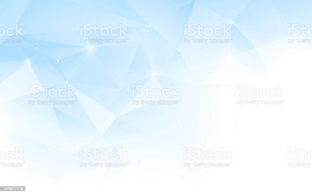 Abstract Blue And White Polygonal Mosaic Background Template