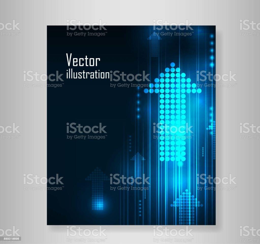 Abstrakte blaue Pfeile Technik kommunizieren Hintergrund, Vektor-illustration - Lizenzfrei Abstrakt Vektorgrafik
