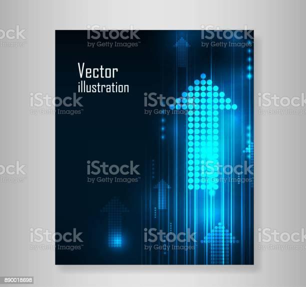 Abstrakte Blaue Pfeile Technik Kommunizieren Hintergrund Vektorillustration Stock Vektor Art und mehr Bilder von Abstrakt