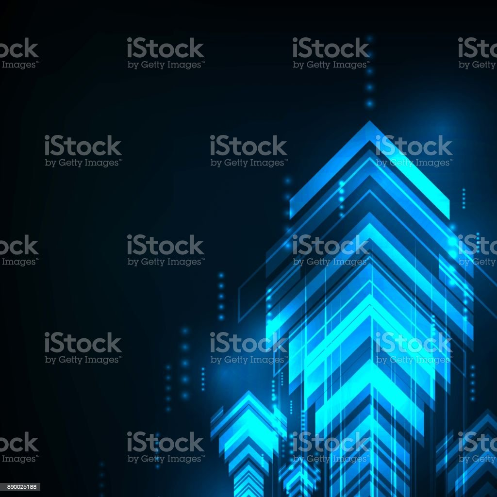 Abstract Blue Arrows technology communicate background, vector illustration vector art illustration