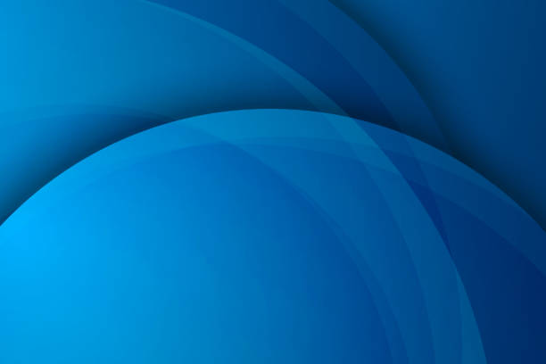 Abstract blue background, circular overlay Abstract blue background, circular overlay blue designs stock illustrations