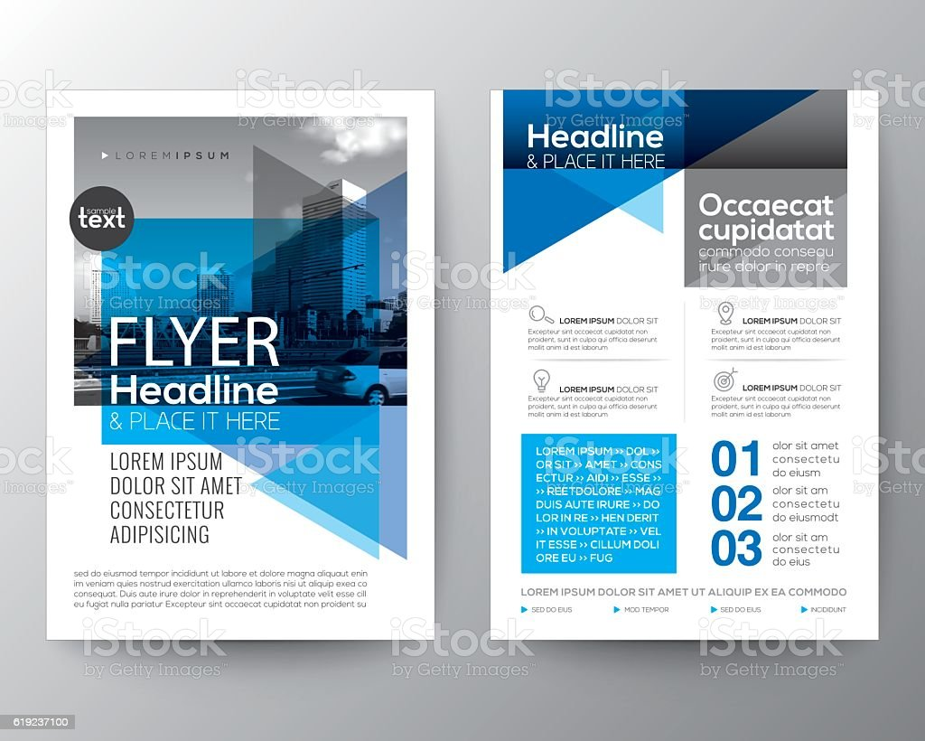 Abstract blue background for Poster Brochure Flyer design Layout vector art illustration