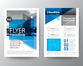 Abstract blue background for Poster Brochure Flyer design Layout