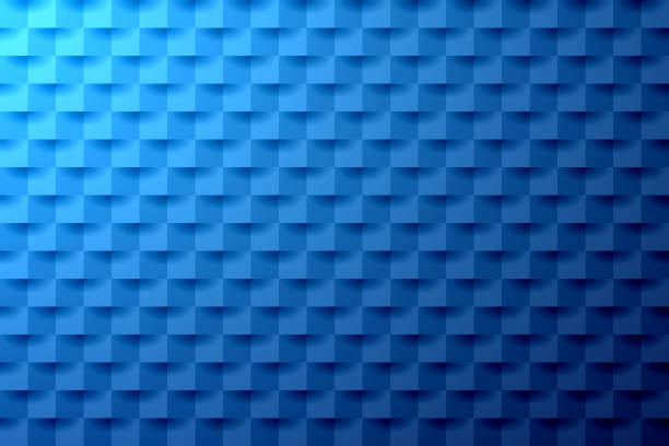 Abstract blue background - Geometric texture vector art illustration