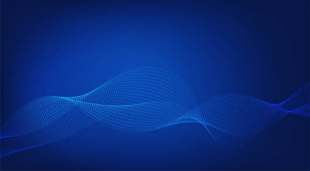 Abstract blue background. Lines Wave Modern Design. Vector illustration Abstract blue background. Lines Wave Modern Design. Vector illustration blue backgrounds stock illustrations