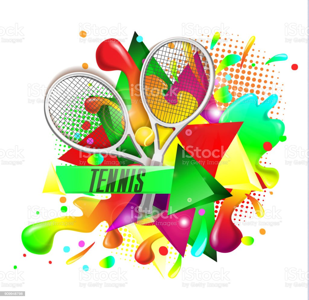abstract blue background sport tennis vector art illustration