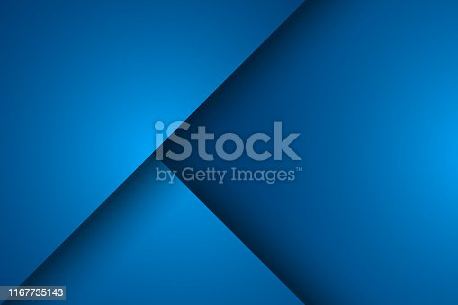 Abstract blue background, triangle overlay