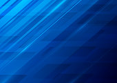 Modern bright blue abstract vector background