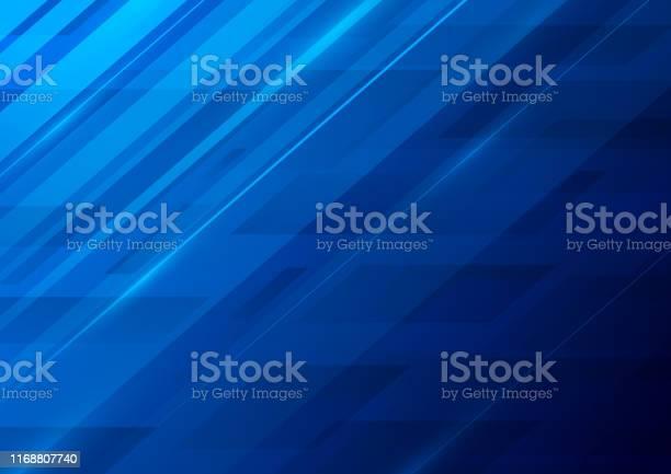 Vetores de Fundo Azul Abstrato e mais imagens de Abstrato