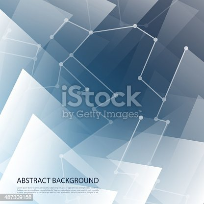 istock Abstract Blue Background 487309158