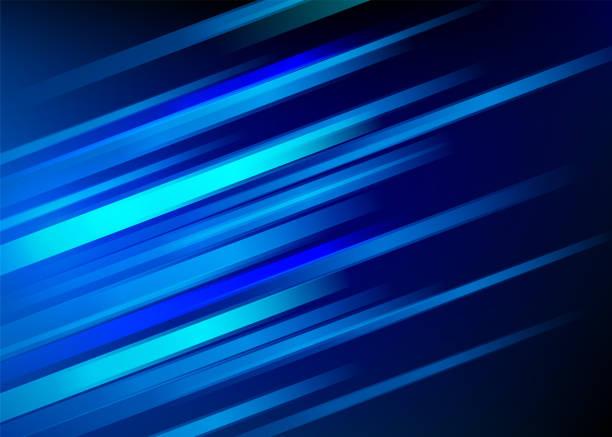 abstrakter blauer hintergrund mit diagonalen linien. geschwindigkeit-motion-design. dynamische sport textur. technologie-stream-vektor-illustration - sport stock-grafiken, -clipart, -cartoons und -symbole
