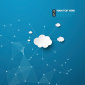 Abstract background for cloud computing concept. Vector illustration in EPS10.