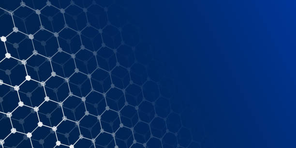 Abstract blue background with white shapes. Vector illustration. Science and medical concept Perspective grid hexagonal surface. Abstract blue background with white shapes. Vector illustration. Science and medical concept dark blue stock illustrations