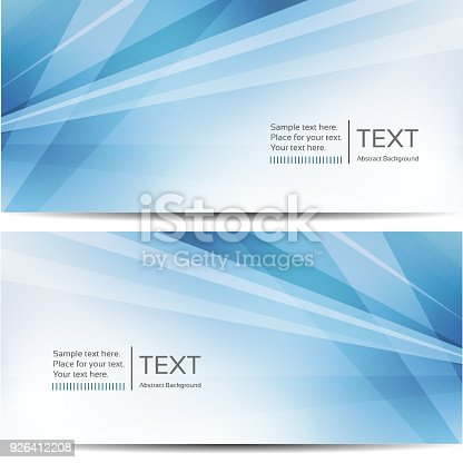 istock Abstract blue banners 926412208