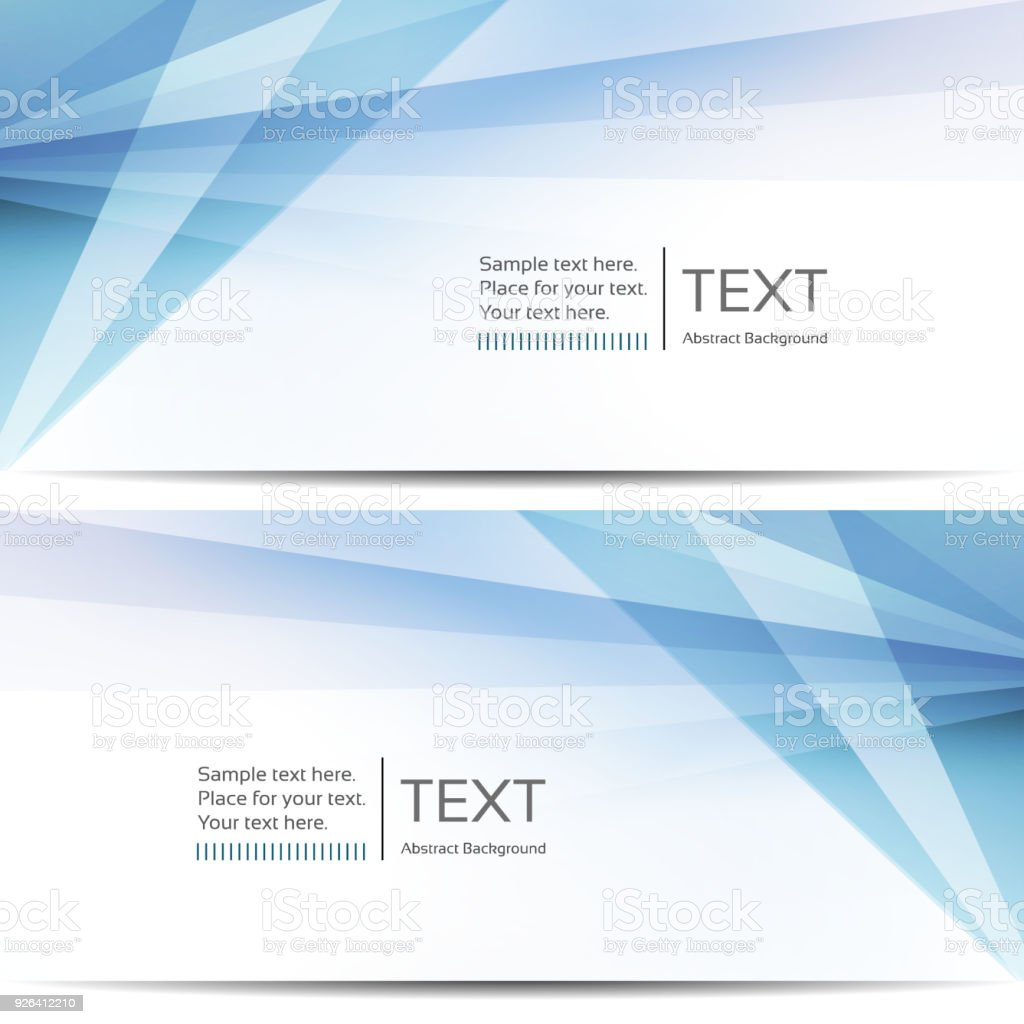 Abstract blue banners vector art illustration