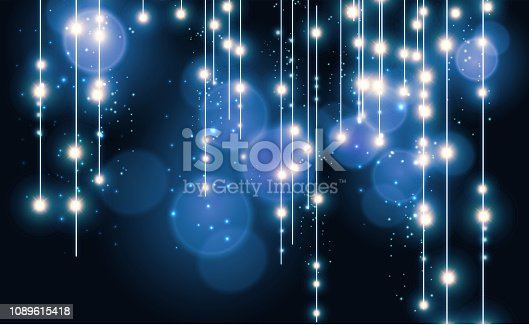 Abstract blue bokeh background. vector illustration.