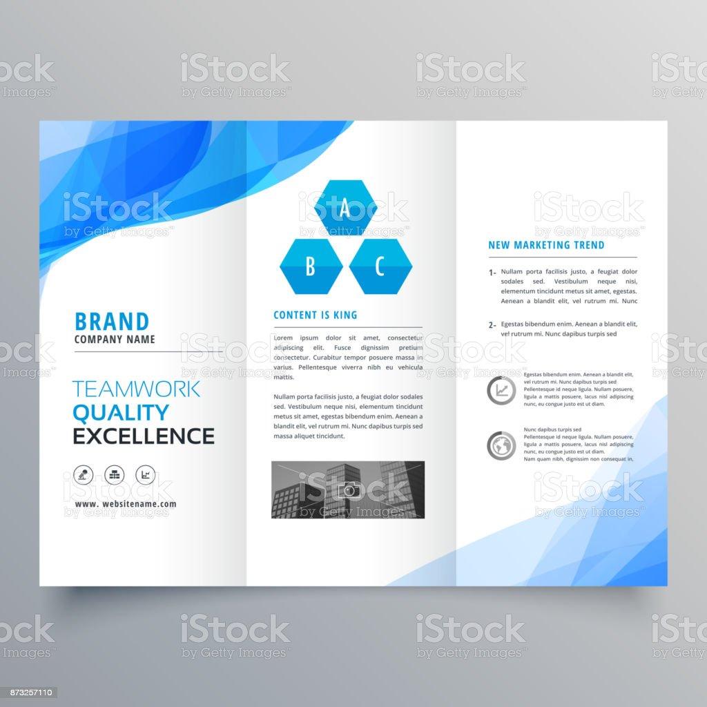 Ilustración de Diseño De Plantillas De Diseño De Folleto Azul ...