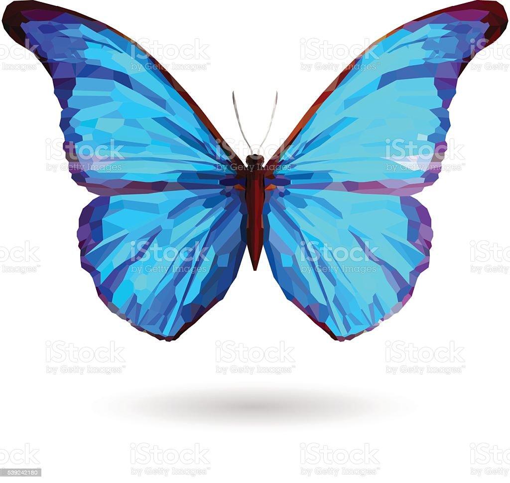 Abstract blue butterfly Illustration ilustración de abstract blue butterfly illustration y más banco de imágenes de abstracto libre de derechos