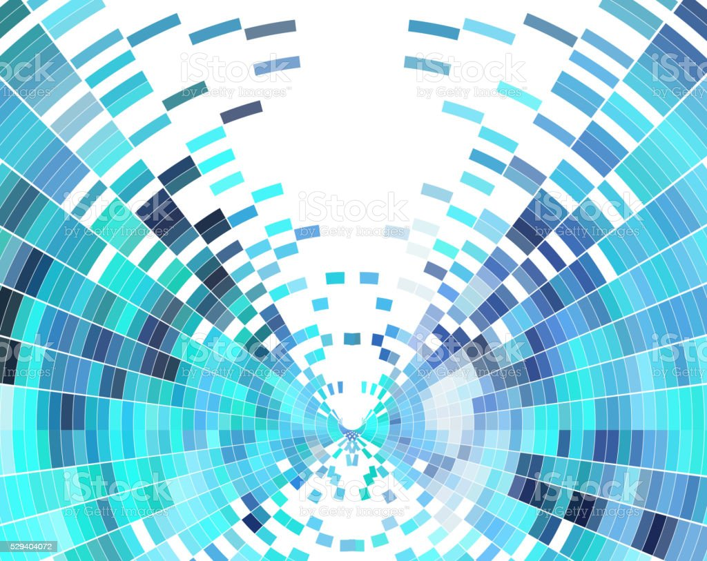 abstract blue check pattern technology background vector art illustration