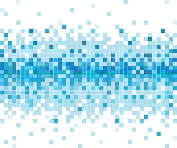 abstract blue check technology pattern background abstract blue check technology pattern background square composition stock illustrations