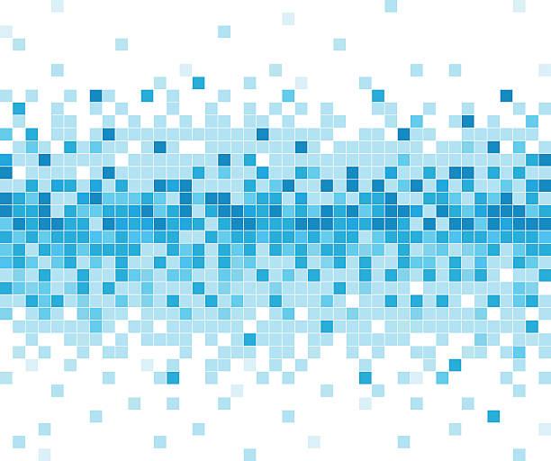 abstract blue check technology pattern background - kare kompozisyon stock illustrations