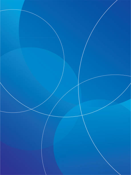 abstract blue circle background - dark blue stock illustrations