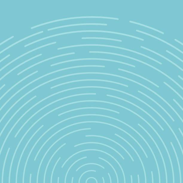 abstrakcyjne niebieskie okręgi obracają linie wzoru tła. - fala woda stock illustrations