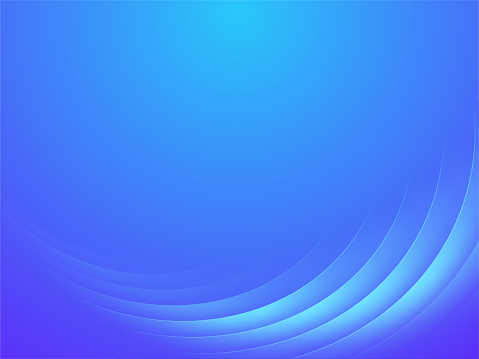 Abstract Blue Color Background With Shiny Wave , Vector Illustration