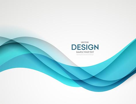 Abstract blue colorful vector background, color flow liquid wave for design brochure, website, flyer.