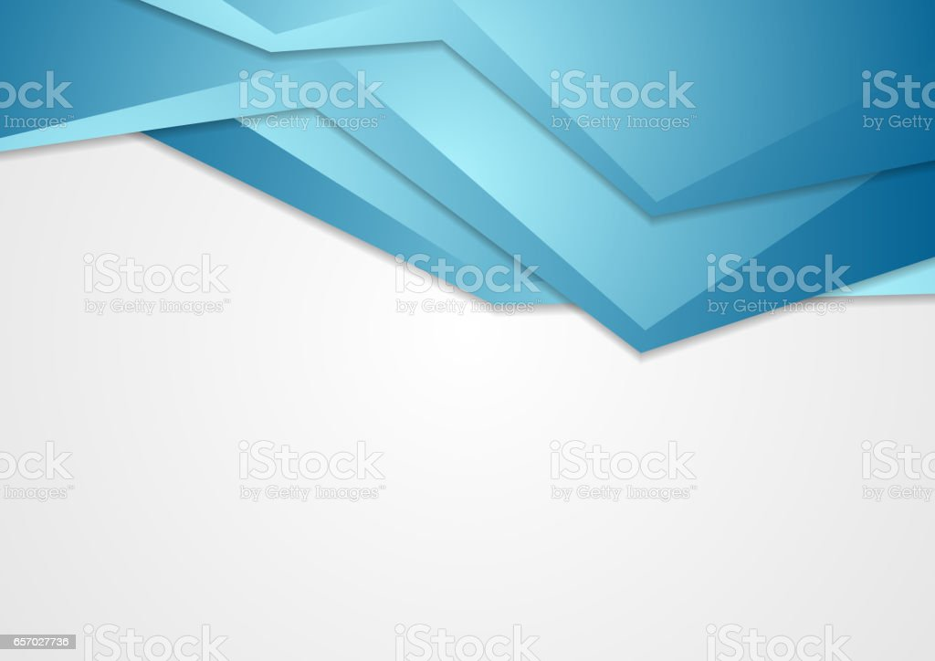 Abstract Blue Corporate Tech Background Stock Illustration - Download Image Now