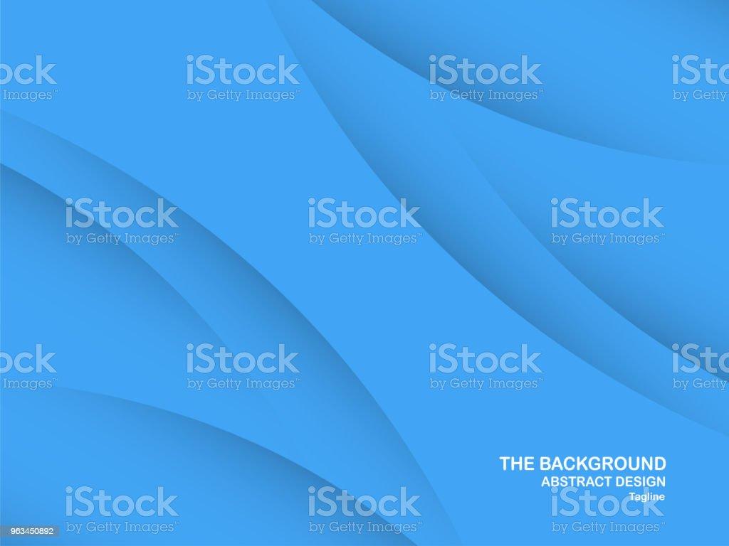 Abstrait bleu courbe fond avec espace de la copie de texte blanc. Modèle moderne de conception pour la couverture, la brochure, bannière web et magazine. - clipart vectoriel de Abstrait libre de droits