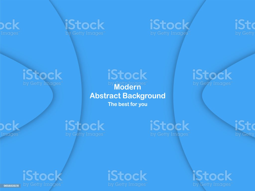 Abstract blue curve background with copy space for white text. Modern template design for cover, brochure, web banner and magazine. - Royalty-free Abstract stock vector