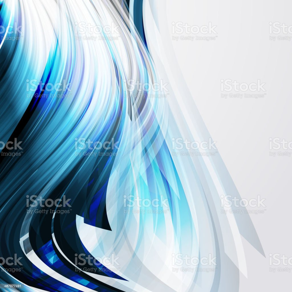 abstract blue design elements on a light background. vector art illustration