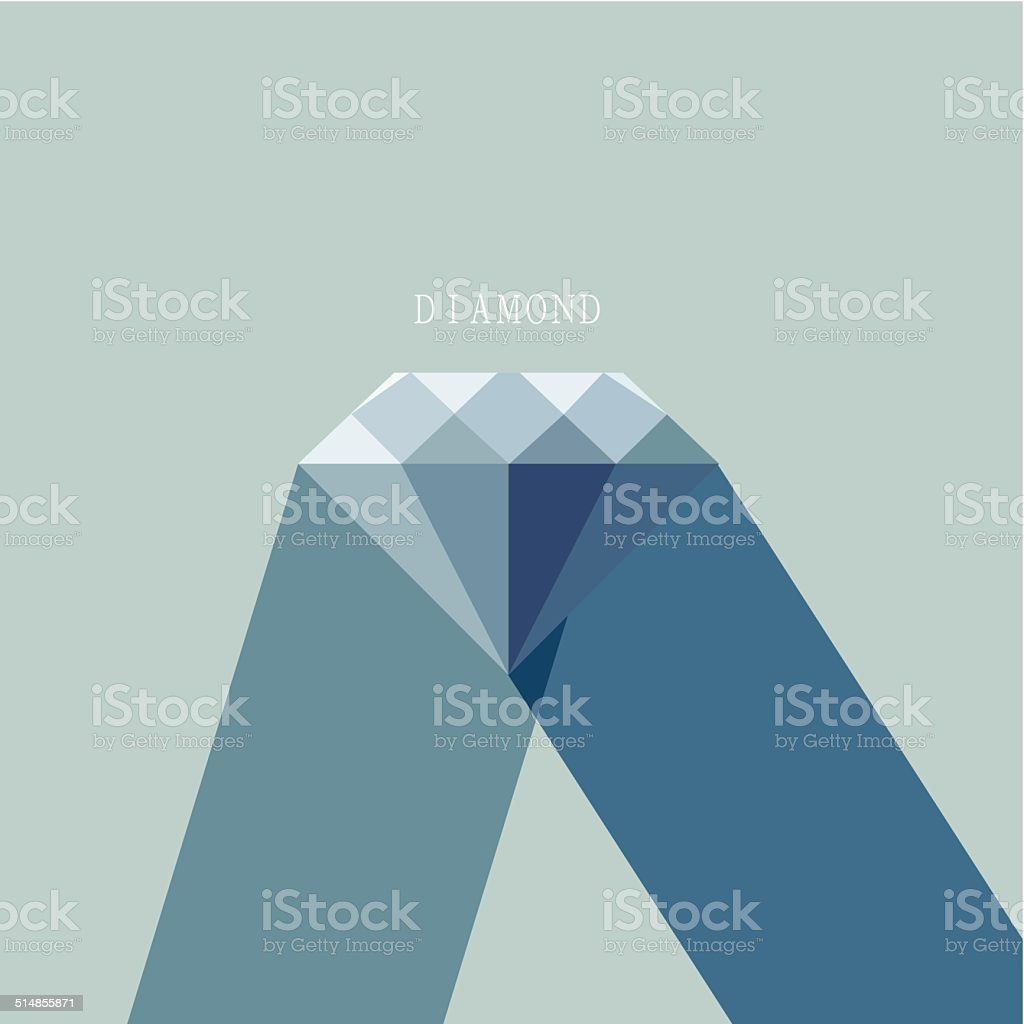 abstract blue diamond pattern icon for design vector art illustration