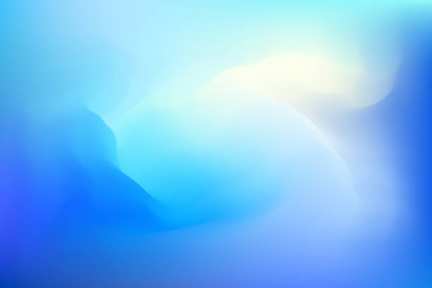 abstract blue dreamy background - miękkość stock illustrations